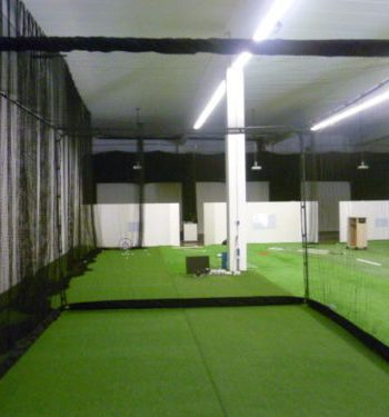 Golfsyndikat Golfsimulator Skytrak Indoorgolf Netzkäfig ohne Impact screen Leinwand