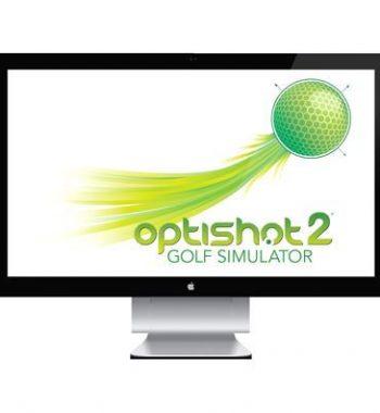 schlagfeste Leinwand Golfsimulator OptiShot2 GolfSyndikat Indoorgolf