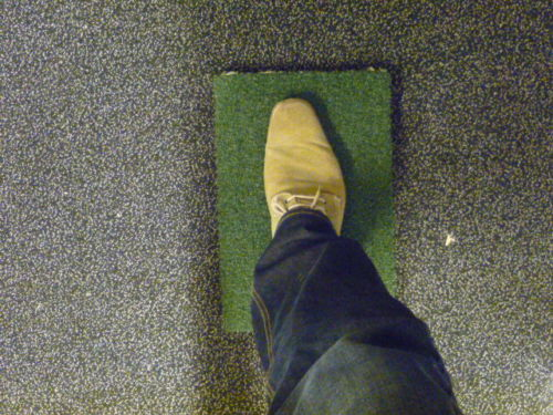 Golfsimulator OptiShot2 Abschlagmatte Pads GolfSyndicate Indoorgolf