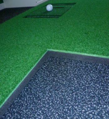 Puttmatte Abschlagmatte 2 teilig Golfsimulator OptiShot PRO GolfSyndikat Indoorgolf