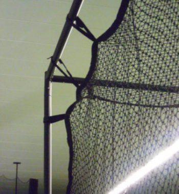 Golfsyndikat Golfsimulator Skytrak Indoorgolf Netzkäfig oben