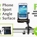 iphone Smartphone Halterung mit flexiblem Stativ schwarz