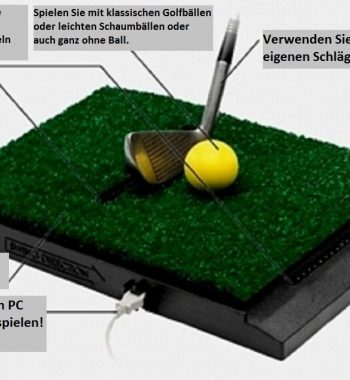 Messeinheit Golfsimulator OptiShot PRO GolfSyndikat Indoorgolf