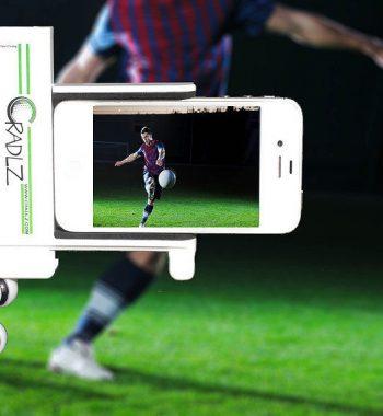 iphone Smartphone Halterung mit flexiblem Stativ weiss