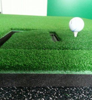 Abschlag Golfsimulator OptiShot PRO GolfSyndikat Indoorgolf