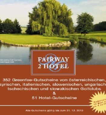 GolfSyndikat 2for1 Gutscheinbuch Fairway2Hotel 2019 günstig Greenfee kaufen