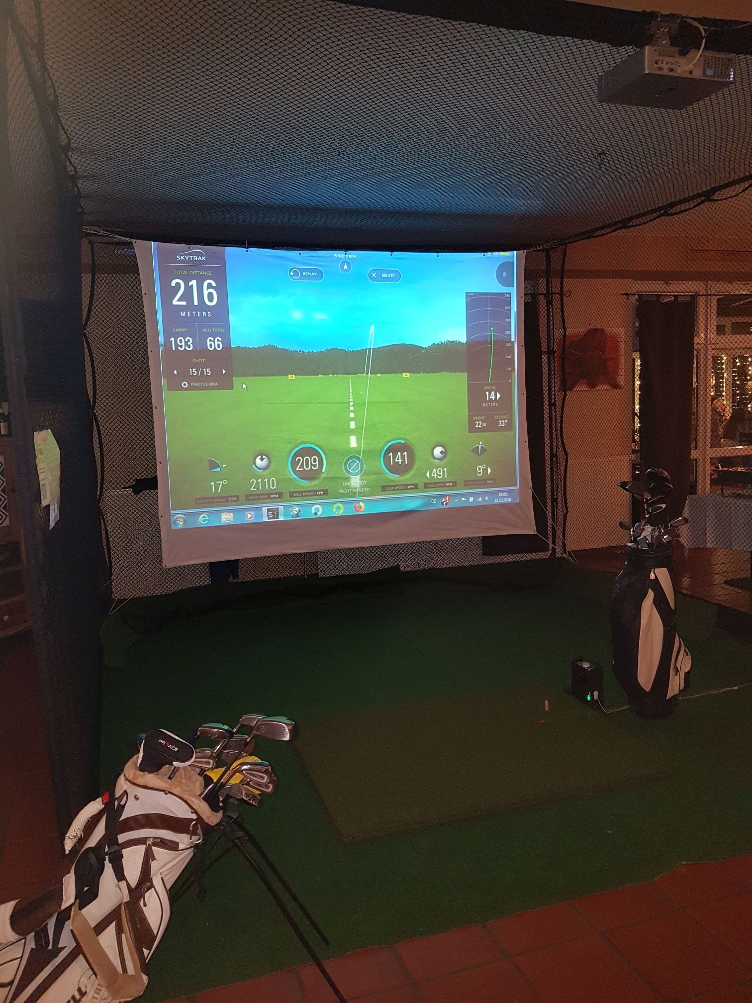 Event Golfsimulator SkyTrak Indoorgolf