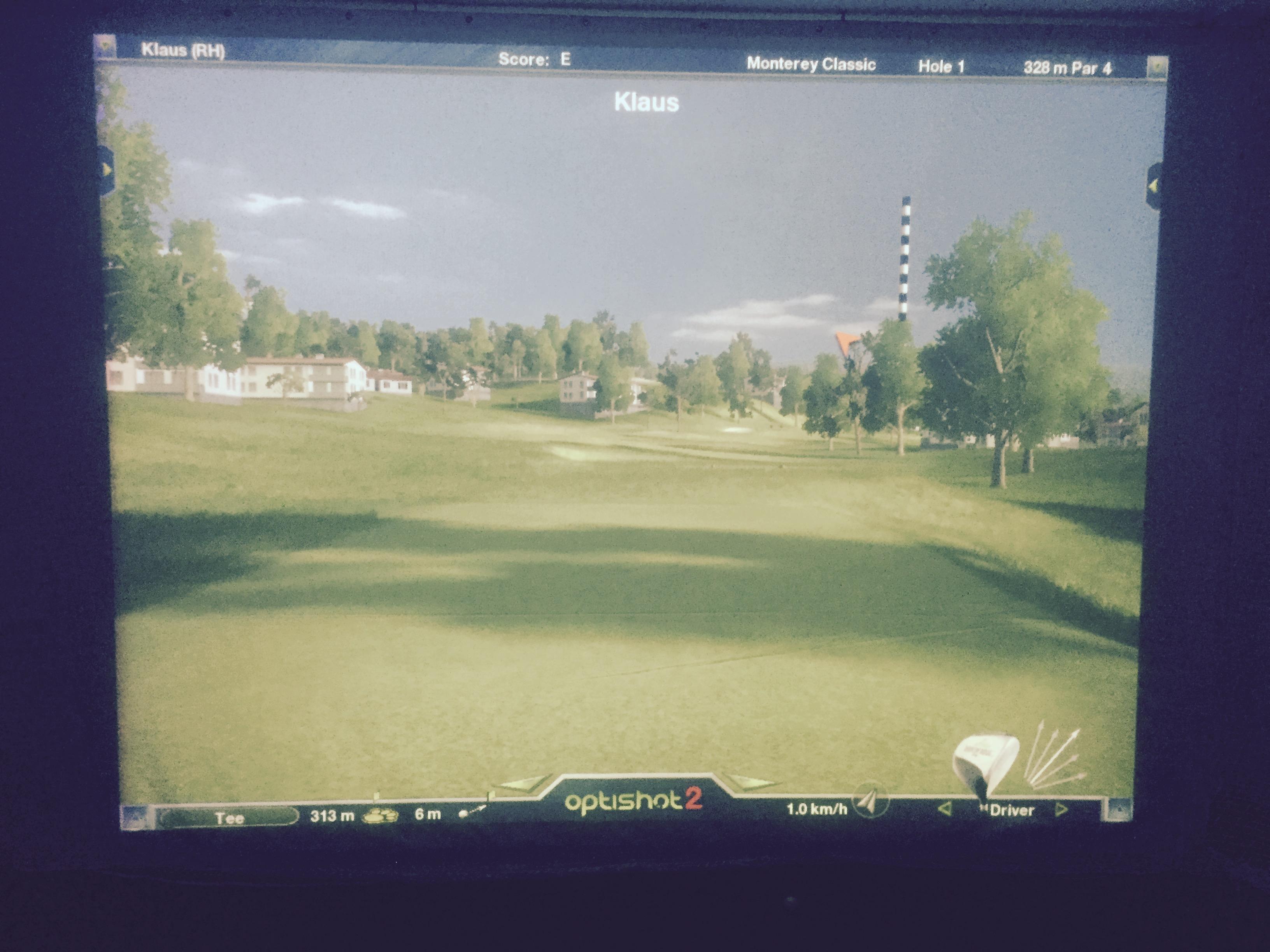 schlagfeste Leinwand Golfsimulator